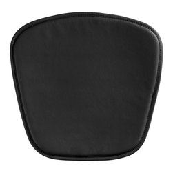 "Zuo - Zuo Modern Wire/Mesh Black Seat Cushion - This simple black cushion is perfect for any of the Zuo Modern Wire or Mesh chairs. It adds even more comfort to the already functional curvaceous furniture designs. The PVC material is water-resistant and easy to clean with water and a soft brush. Black PVC water-resistant cushion. Stitched trim detail. Foam fill. 18 1/2"" wide 1/2"" thick.  Black PVC water-resistant cushion.  Stitched trim detail.  Foam fill.  18 1/2"" wide 1/2"" thick."