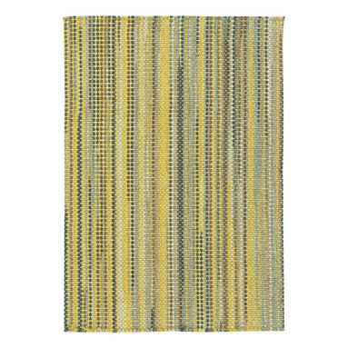 Hampton rug in Goldenrod - The crisp basketweave look of Capel Rugs' new Hampton woven rug is a standout texture and is reminiscent of menswear-inspired furnishing fabrics.  Capel's Hampton Collection area rugs are woven with sturdy wool blend yarns.  The rich color palette ranges from tonal neutrals to primary brights.  Hampton area rugs are offered in a variety of rectangular shapes and sizes.