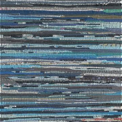 Safavieh - Safavieh Rag Rug RAR121C 8' x 10' Ink, Multi Rug - This Hand Woven area rug would make a great addition to any room in the house. The plush feel and durability of this area rug will make it a must for your home.
