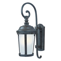 Maxim - Maxim Dover EE One Light Bronze Frosted Seedy Glass Wall Lantern - This One Light Wall Lantern is part of the Dover Ee Collection and has a Bronze Finish and Frosted Seedy Glass. It is Wet Rated, Outdoor Capable, and Energy Star Compliant.
