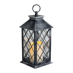 Westinghouse Flameless Pillar Lantern Set, Silver