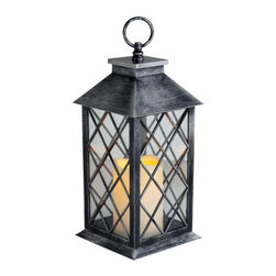 Westinghouse Flameless Pillar Lantern Set, Silver - This fabulous light comes at a great price point. I am loving the flameless option! No worrying about fire hazards, pets or little kids around. Wouldn't it be a great addition to a campsite as well?