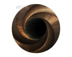 Nova Lighting - Nova Lighting Infinite Way Contemporary Framed Wall Mirror X-B23BRMFI - The whirled patterning of the wide circular frame is accentuated by a beautiful Rootbeer Aluminum finish on this Nova Lighting wall mirror. From the Infinite Collection, this contemporary wall mirror also features an infinity mirror, which creates a stunning, endless tunnel effect when paired with the LED lighting.