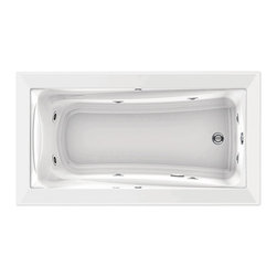 American Standard - Green Tea Everclean 36 inch x 66 inch Whirlpool Tub in White - American Standard 3572.018WC.020 Green Tea Everclean 36 inch x 66 inch Whirlpool Tub in White.