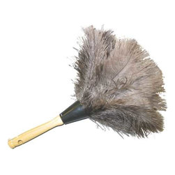 IMPACT PRODUCTS - Ostrich Feather Duster - Ostrich Feather dusters are ideal for irregular surfaces, small spaces and for dusting between and around delicate items. Fine, soft ostrich feathers are the best choice for dusters and have the most surface area to grab dust particles. Feather dusters hold dust and brush it off items, which is why it is important to work from the top down when cleaning in a room. Feather length and color may vary. 34 inch length. 12 per case. Perfect for general cleaning of irregular surfaces. Genuine ostrich feather. Feathers are a natural product.