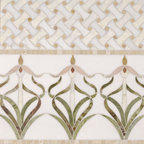 Orchids Border - Studio V153 - Water Jet Collection