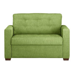Allerton Twin Sleeper Sofa - Go green — or blue or red — with this fabulous, versatile love seat. It comes in an assortment of colors and also converts into twin bed.
