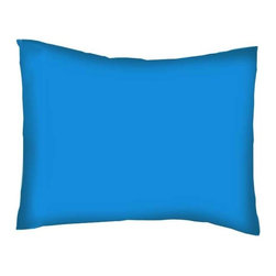 SheetWorld - SheetWorld Twin Pillow Case - Solid Turquoise - Made in USA - Pillow case is made of a durable all cotton jersey knit material. Fits a standard twin size pillow. Color is a solid turquoise.