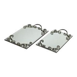 Sterling - Sterling 53-8500 Set Of 2 Trays - Sterling 53-8500 Set Of 2 Trays