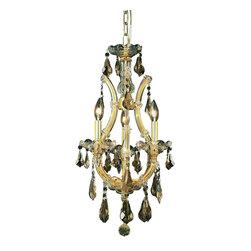 Elegant Lighting - Elegant Lighting 2801D12G-GT/RC Maria Theresa Collection Hanging Fixture - Elegant Lighting 2801D12G-GT/RC Maria Theresa Collection Hanging Fixture