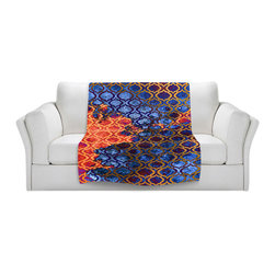 DiaNoche Designs - Throw Blanket Fleece - Sky Pattern I - Original Artwork printed to an ultra soft fleece Blanket for a unique look and feel of your living room couch or bedroom space.  DiaNoche Designs uses images from artists all over the world to create Illuminated art, Canvas Art, Sheets, Pillows, Duvets, Blankets and many other items that you can print to.  Every purchase supports an artist!