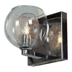 Access Lighting - Access Lighting 52081-CH/CLR Aeria Modern Bathroom Light - Chrome - Access Lighting 52081-CH/CLR Aeria Modern Bathroom Light In Chrome