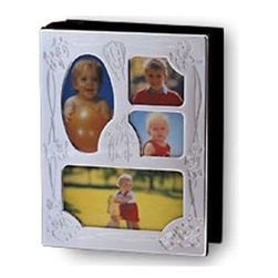 Godinger Silver - Collage Baby Album - Nice memories deserve an even nicer presentation. In this silver-plated baby album you can keep a loving record of baby's first tooth, first pose with Grandpa and even first step. Give as a new baby gift or fill with your own photos to give at baby's first birthday. Dimensions: 5 x 2 x 7 inches.
