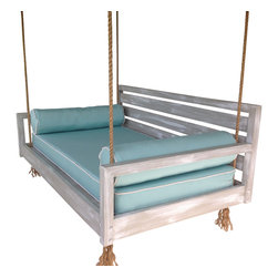 The Beaufort Hanging Bed - - Hand made in South Carolina with hand selected #1 treated kiln dried pine