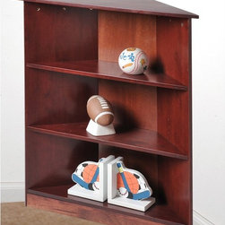 Gift Mark - Gift Mark 3 Tier Corner Bookcase - 5000C - Shop for Childrens Bookcases from Hayneedle.com! A helpful organization piece the Gift Mark 3 Tier Corner Bookcase offers a unique design to display items. Its solid wood construction comes in your choice of finish option. This bookcase has a smart design that lets it perfectly fit into any corner of your home. A space-saving bookcase this one includes three open shelves for your displaying and storing needs. About Gift MarkGift Mark is a leading supplier of fine children s furniture and accessory pieces. Table and chair sets laundry hampers toy chests and bookcases Gift Mark s wide variety of products will certainly match any child s room and imagination! Some of their popular lines are Kid s Korner and Wicker Way collections.