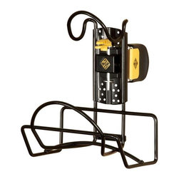 Cosco Office - Flip Clip Hose Rack - Two levels of storage. Can store a variety of items and reduce clutter. Holding capacity: 75 lbs.. Warranty: One year. Made from steel and resin. Black color. 13.13 in. W x 7.25 in. D x 12.5 in. H (3.97 lbs.)Declutter your garage in minutes. This hose kit lets you store and move your hose efficiently. Storage solution for both unfinished and finished walls.