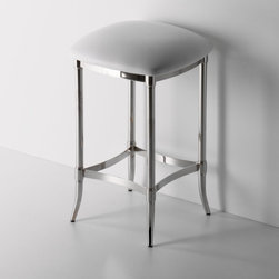 Easton Stool - Nickel finish.