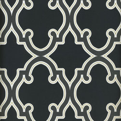 Ink Wallpaper - This is a super swanky wallpaper in a modern trellis pattern.