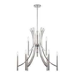 Designers Fountain - Designers Fountain Cordova Transitional Chandelier X-HC-98548 - A magnificent home lighting choice, the Designers Fountain Cordova Transitional chandelier effortlessly blends old world panache with clean modern-day design. Polished chrome finish adorns the simple sweeping arms, topped with stylish white opal glass shades or white fabric shades. This fabulous chandelier is a fantastic piece for an ultramodern setting.