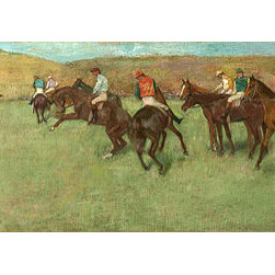 At the Races - Before the Start, c.1885/92 | Edgar Degas | Canvas Prints - Condition: Unframed Canvas Print