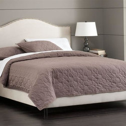 Skyline Furniture - Foam Padded Bed w Adjustable Legs in Oatmeal - Choose Size: QueenIncludes nail buttons. Adjustable legs. Plush foam padding. 100% polyester. Attaches to standard bed frames. Made in USA. Assembly required. Twin: 78 in. L x 41 in. W x 51 in. H (83 lbs.). Full: 78 in. L x 56 in. W x 51 in. H (83 lbs.). Queen: 83 in. L x 62 in. W x 51 in. H (100 lbs.). King: 83 in. L x 78 in. W x 51 in. H (117 lbs.). Cal king: 87 in. L x 74 in. W x 51 in. H (113 lbs.)