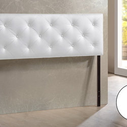 Baxton Studio - Baxton Studio Bedford White Queen Sized Headboard - Bored with your bedroom? Need to perk up that platform bed? Add the look of leather.