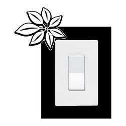 StickONmania - Lightswitch Plants #10 Sticker - A vinyl sticker decal to decorate a lightswitch.  Decorate your home with original vinyl decals made to order in our shop located in the USA. We only use the best equipment and materials to guarantee the everlasting quality of each vinyl sticker. Our original wall art design stickers are easy to apply on most flat surfaces, including slightly textured walls, windows, mirrors, or any smooth surface. Some wall decals may come in multiple pieces due to the size of the design, different sizes of most of our vinyl stickers are available, please message us for a quote. Interior wall decor stickers come with a MATTE finish that is easier to remove from painted surfaces but Exterior stickers for cars,  bathrooms and refrigerators come with a stickier GLOSSY finish that can also be used for exterior purposes. We DO NOT recommend using glossy finish stickers on walls. All of our Vinyl wall decals are removable but not re-positionable, simply peel and stick, no glue or chemicals needed. Our decals always come with instructions and if you order from Houzz we will always add a small thank you gift.