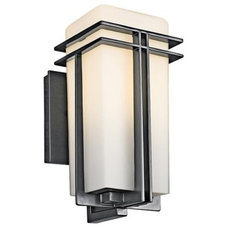 """Tremillo Collection Black 12"""" High Outdoor Wall Light 