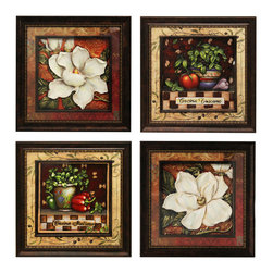 ecWorld - Urban Designs Handcrafted 4-Piece Set Artisan Metal Wall Art - Tuscan Kitchen - An afternoon in Tuscany. This wall art arrives ready to hang.