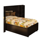 South Shore - South Shore Logik Twin Bed Frame Only on Casters in Chocolate Finish - South Shore - Beds - 3359082 - This twin 39-inch bed on casters with brakes coordinates with the other Logik loft bed items in order to form a free-standing loft system. This bed also coordinates with many decor styles. It matches very well with the rest of Logik and Summer Breeze collections in Chocolate finish.