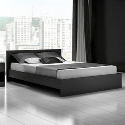 """Stellar Home - Euro Platform Bed - The Euro collection from Stellar Home Furniture has been designed with modernism and minimalism in mind. This globally influenced brand promotes innovative and affordable furniture for a vibrant lifestyle. This bedroom collection is constructed of durable engineered wood made for years of use. For environmental concern the collection made of recycled wood is packed with a 100% recycled cardboard, without the use of foam. Features: -Constructed of durable engineered wood. -100% recycled cardboard. -5 Years warranty. -Overall Dimensions: 31.5"""" H x 63.5"""" W x 83.5"""" D."""
