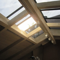 Pacific Palisades - This is a before we started picture of the original skylight before any film was installed.