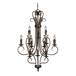 Centennial 3 Tier Chandelier, Candle