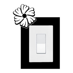 StickONmania - Lightswitch Plants #11 Sticker - A vinyl sticker decal to decorate a lightswitch.  Decorate your home with original vinyl decals made to order in our shop located in the USA. We only use the best equipment and materials to guarantee the everlasting quality of each vinyl sticker. Our original wall art design stickers are easy to apply on most flat surfaces, including slightly textured walls, windows, mirrors, or any smooth surface. Some wall decals may come in multiple pieces due to the size of the design, different sizes of most of our vinyl stickers are available, please message us for a quote. Interior wall decor stickers come with a MATTE finish that is easier to remove from painted surfaces but Exterior stickers for cars,  bathrooms and refrigerators come with a stickier GLOSSY finish that can also be used for exterior purposes. We DO NOT recommend using glossy finish stickers on walls. All of our Vinyl wall decals are removable but not re-positionable, simply peel and stick, no glue or chemicals needed. Our decals always come with instructions and if you order from Houzz we will always add a small thank you gift.