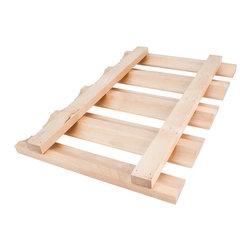 Hardware Resources - Stemware Rack.  18 x 12 x 1 1/2.  Species:  Cherry - Stemware Rack.  18 x 12 x 1 1/2.  Species:  Cherry.  Includes 4pcs #6 x 1 Phillips wood screws.