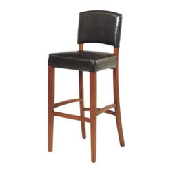 Armen Living Sonora 30 in. Bar Stool - Sit down and get comfortable in this versatile and graceful bar stool. A slightly curved back rest is completely separate from the seat, and both are cushioned and upholstered for comfort. The open design of the armless chair works in any decor, from traditional to modern. The 100% bycast leather covering this bar stool is a deep dark brown or black that will look great for years. The black leather comes with ebony wood finish, the brown leather comes with cherry wood finish. Stool dimensions: 16W x 17D x 42H inches. Seat height 30 inches. Please note: This item is not intended for commercial use. Warranty applies to residential use only.About Armen LivingImagine furniture without limits - youthful, robust, refined, exuding self-expression at every angle. These are the tenets Armen Living's designers abide by when creating their modern furniture collections. Building on more than 30 years of industry experience, Armen Living combines functional versatility and expert craftsmanship into their dramatic furniture styles, all offered at price points fit for discriminating budgets. Product categories include bar stools, club chairs, dining tables, ottomans, sofas, and more. Armen Living is based in Sun Valley, Calif.