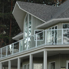 Modern Home Fencing And Gates by Century Aluminum Railings