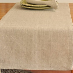 """Origin Crafts - Serenite natural linen table runners - Serenite Natural Linen Table Runners 100% linen. We have a wide collection of 100% linen table runners to suit your decor style, ranging from solid to jacquard,casual to luxurious and contemporary to French country chic. They can be placed along the table or across it, depending on the look that you want to achieve. Beautiful hemstitched edges highlight the sophistication of a linen runner and make it an attractive element in any interior.Dimensions (in): 18"""" x 67"""" 18"""" x 88"""" By Linen Way - Linen Way is a family-owned wholesale business that sells the finest home textiles, handpicked from around the world. Linen Way offers inspirational products for your life and home in traditional and modern designs. Estimated Delivery Time 1-2 Weeks. Please be aware that some products are handmade and unique therefore there may be slight variations in each individual product."""
