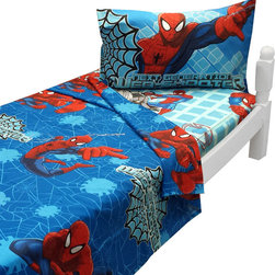 Jay Franco and Sons - Ultimate Spider-Man Twin Sheet Set Marvel Bedding - FEATURES: