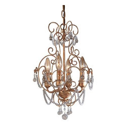 Minka Lavery - Minka Lavery ML 3129 4 Light 1 Tier Candle Style Crystal Chandelier from the Min - Four Light Single Tier Candle Style Crystal Chandelier from the Mini Chandeliers CollectionFeatures:
