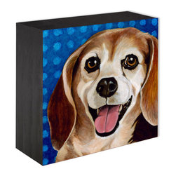 """""""Zach"""" Wood panel print - •Panel Prints can sit on a shelf or hang on the wall"""