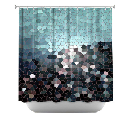 DiaNoche Designs - Shower Curtain Artistic - Patternization II - DiaNoche Designs works with artists from around the world to bring unique, artistic products to decorate all aspects of your home.  Our designer Shower Curtains will be the talk of every guest to visit your bathroom!  Our Shower Curtains have Sewn reinforced holes for curtain rings, Shower Curtain Rings Not Included.  Dye Sublimation printing adheres the ink to the material for long life and durability. Machine Wash upon arrival for maximum softness. Made in USA.  Shower Curtain Rings Not Included.