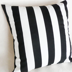 Oversize Floor Pillow, Black and White by Pillow Throw Decor - A throw pillow is a great way to add pattern in a room, and these are so fun.