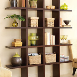 Tic Tac Toe Medium Bookcase in Java Brown