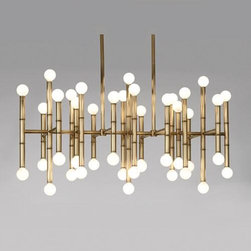 Robert Abbey Lighting - Robert Abbey Jonathan Adler Meurice Rectangular Chandelier in Antique Brass - Jonathan Adler Meurice Rectangular Chandelier in Antique Brass by Robert Abbey.
