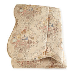 """Dian Austin Couture Home - King Floral Brocade Duvet Cover 119"""" x 100"""" - CHAMPAGNE (100""""L X 119""""W) - Dian Austin Couture HomeKing Floral Brocade Duvet Cover 119"""" x 100""""Designer About Dian Austin Couture Home:Taking inspiration from fashion's most famous houses of haute couture the Dian Austin Couture Home collection features luxurious bed linens and window treatments with a high level of attention to detail. Acclaimed home designer Dian Austin introduced the collection in 2006 and seeks out extraordinary textiles from around the world crafting each piece with local California artisans."""