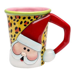 ATD - Set of Four 4.25 Inch Red, White, Green and Leopard Print Santa Mugs - This gorgeous Set of Four 4.25 Inch Red, White, Green and Leopard Print Santa Mugs has the finest details and highest quality you will find anywhere! Set of Four 4.25 Inch Red, White, Green and Leopard Print Santa Mugs is truly remarkable.