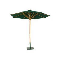 Westminster Teak Furniture - Westminster Teak Premium Round Umbrella, 94-Inch Diameter - A fine teak patio umbrella can make all the difference on a sunny day. From breakfast to working outdoors to midday lunches, you will want to have shade. Strong and stable, no gust of wind will take this baby out. Choose from 95 made to order Sunbrella fabric colors and get yourself an ecofriendly garden parasol!