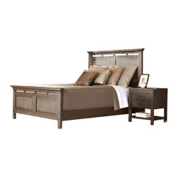 Riverside Furniture - Riverside Furniture Promenade Panel Platform Bed 5 Piece Bedroom Set in Warm Coc - Riverside Furniture - Bedroom Sets - 845XXPromenadePanelBed5PcSet - Riverside's products are designed and constructed for use in the home and are generally not intended for rental commercial institutional or other applications not considered to be household usage. Riverside uses furniture construction techniques and select materials to provide quality durability and value in their products. The construction of Riversides core product line consists of a combination of cabinetmaker hardwood solids and hand-selected veneers applied over medium density fiberboard (MDF) and particle board. MDF and particle board are used in quality furniture for surfaces that require stability against the varying environmental conditions in modern homes.You'll appreciate the multiple-step application of Riverside's furniture finishes. Their finishing processes involve several steps of hand sanding applications of several types of finishing coats padding and polishing.