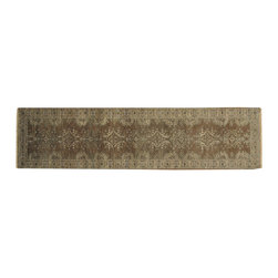 Taupe Oushak Silver Wash 3'x10' Runner 100% Wool Hand Knotted Rug SH16939 - Hand Knotted Oushak & Peshawar Rugs are highly demanded by interior designers.  They are known for their soft & subtle appearance.  They are composed of 100% hand spun wool as well as natural & vegetable dyes. The whole color concept of these rugs is earth tones.
